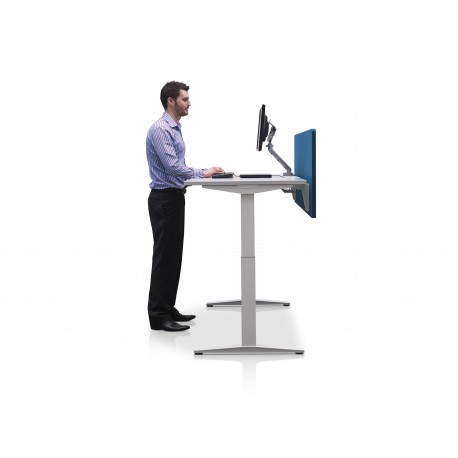 Bureau assis debout ratio single herman miller la boutique du dos - Bureau reglable en hauteur ergonomique ...