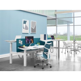 Bureau double assis debout RATIO Herman Miller