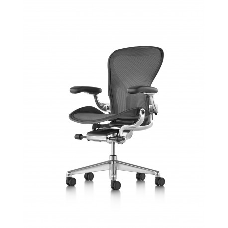 Aeron Remastered Herman Miller structure Alu graphite toutes options version B