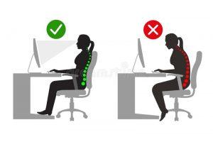 corriger votre position au bureau pour éviter le mal de dos