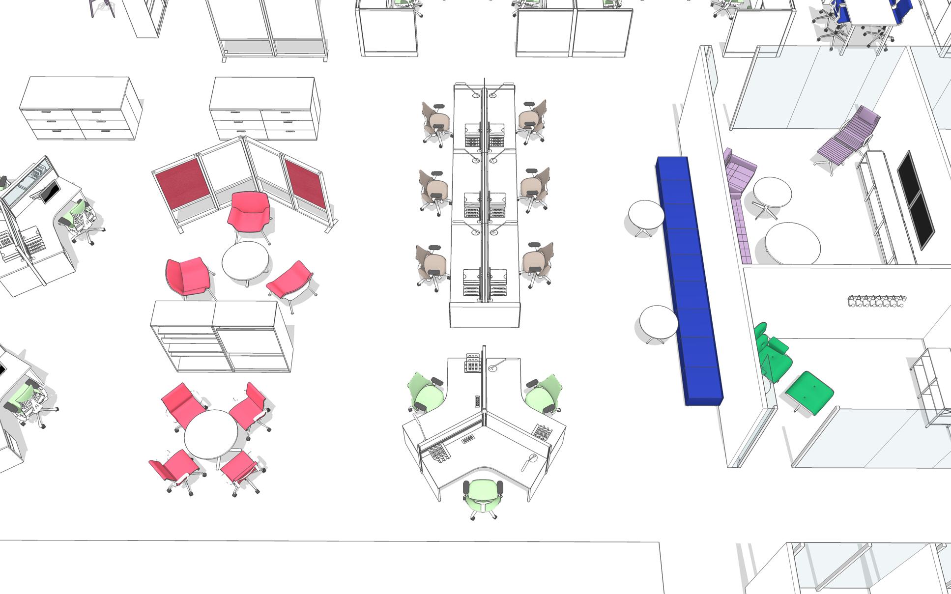 Space planning sièges et mobilier ergonomiques