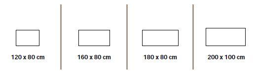 Format plateaux rectangulaires bureaux réglables Everest