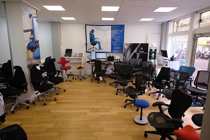 Espace sièges de bureau à la Boutique du Dos Paris